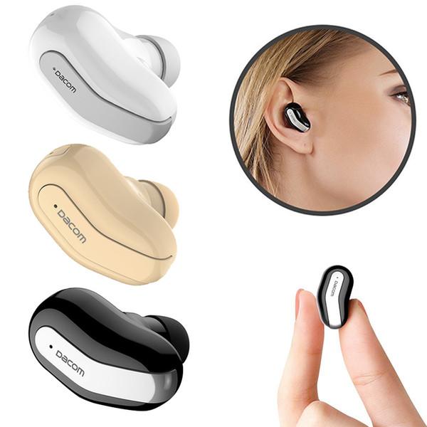 Dacom Menor Fone de Ouvido Bluetooth K8 Fone de Ouvido Escondido Micro Mono Invisível Fone de Ouvido Mini Fone de Ouvido Sem Fio com Microfone Único Earbud para o iphone