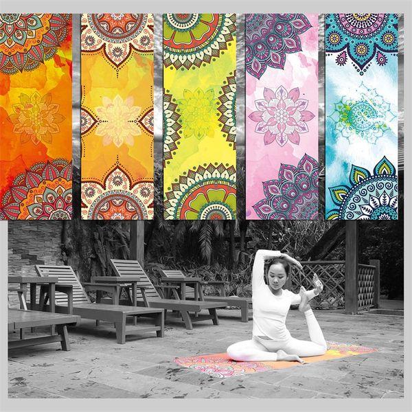 Yoga Fitness Napkin Fashion Printing Soft Non Slip Pad Superfine Fiber Sports Play Mats Hot Sale 19 5yl Ww