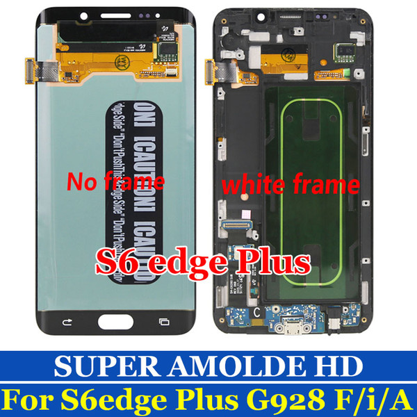 SUPER AMOLED Display S6 Edge+ For SAMSUNG Galaxy S6 edge Plus LCD Display G928 G928F Touch Screen Digitizer Phone Parts Original OLED