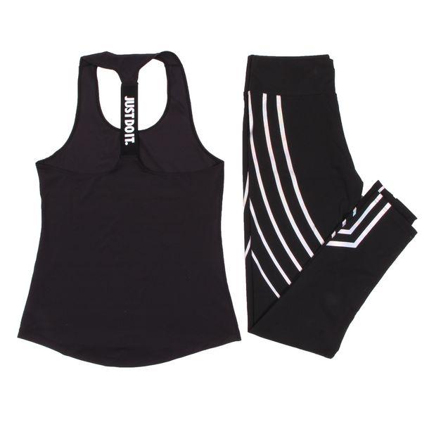 Frauen Yoga Set Sport Top Weste + Reflektierende Leggings Fitness Kleidung Laufhose Jogging Workout Yoga Leggings Sport Anzug