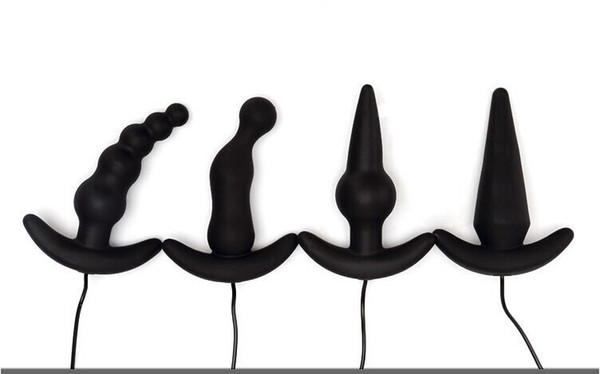 4 Arten für wählen neue wasserdichte 10 Geschwindigkeit Silikon-Vibrator Anal Butt Plug Perlen Adult liefert Sexspielzeug für Männer Frauen Y1892902