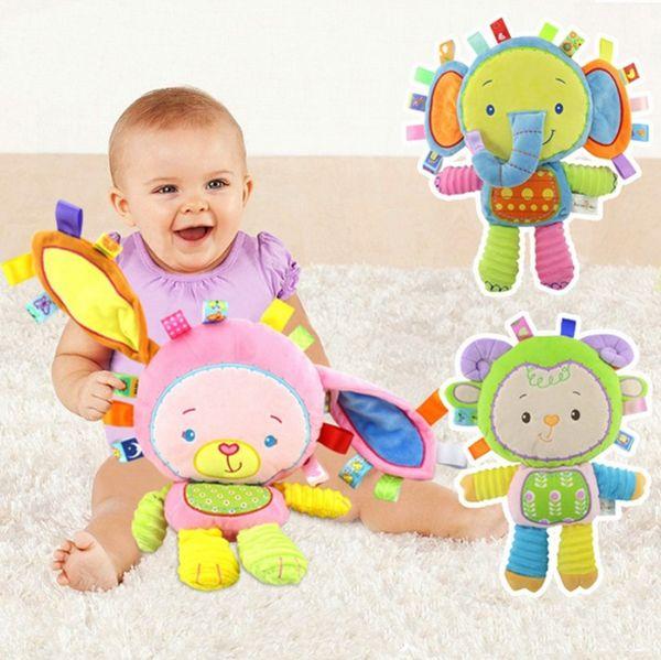 best animal handbells developmental toy bed campane per bambini giocattoli morbidi sonagli regalo per bambini giocattoli morbidi sonaglio baby car around appeso campanello sonaglio
