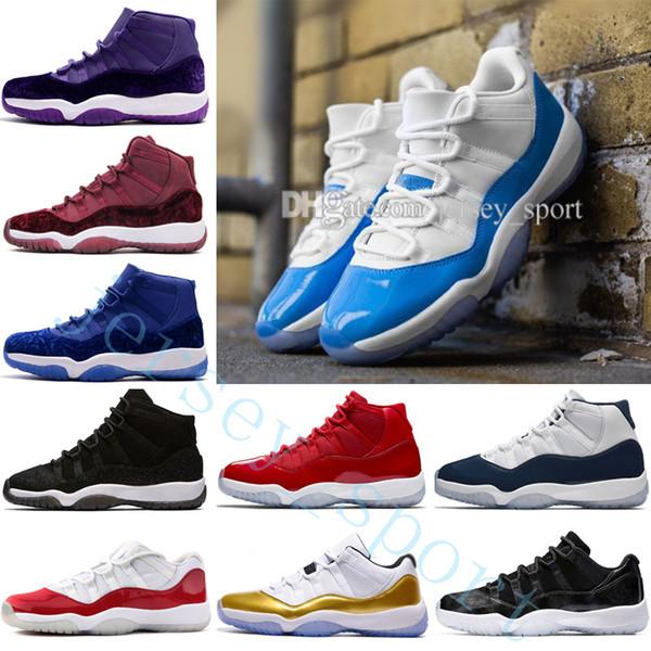 Cheap 11 Mens basketball shoes High Gym Red Midnight Navy Win Like 82 96 Blue Barons PRM Heiress Black Stingray Velvet Sport designer Shoes