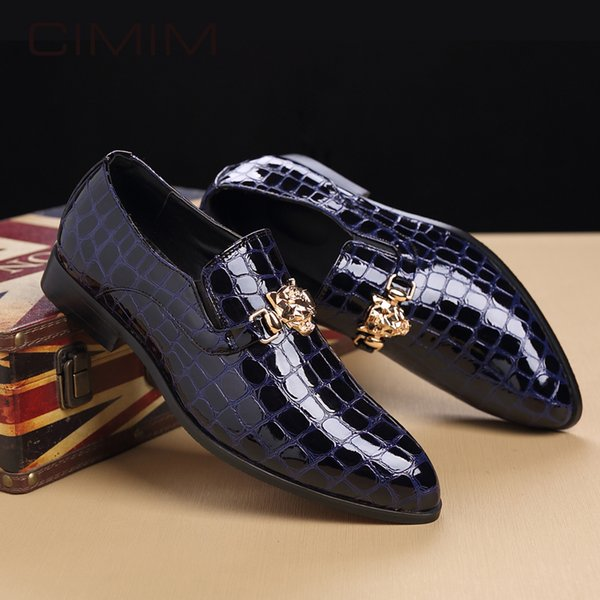 CIMIM Mens Shoes Large Sizes Italy Formal Shoes For Men British Style Business Mens Dress Wedding Man Leather Office Shoe