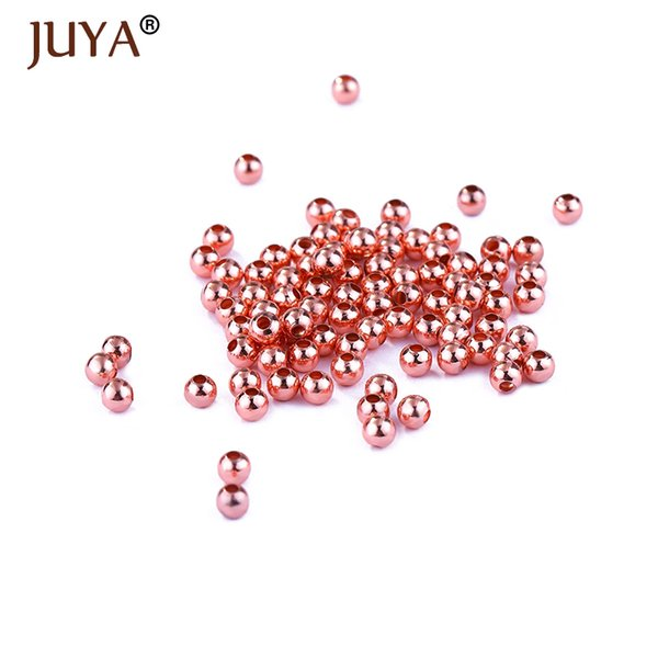 2.5mm/3mm/4mm/5mm Copper Spacer Beads For Jewelry Making 100pcs Round Seed Beads DIY Strand Bracelets Necklaces Findings perles