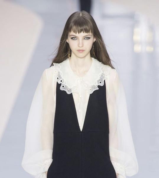 Accessoires de vêtement de mariée nouveau collier de poupée de fils de racine européen double vague percée creuse dans le col
