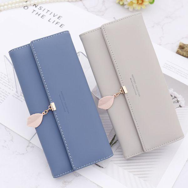 2018 ladies' wallet, new Korean version, simplified seventy percent off mobile phone bag, multi function buckle, long hand pocket wallet.