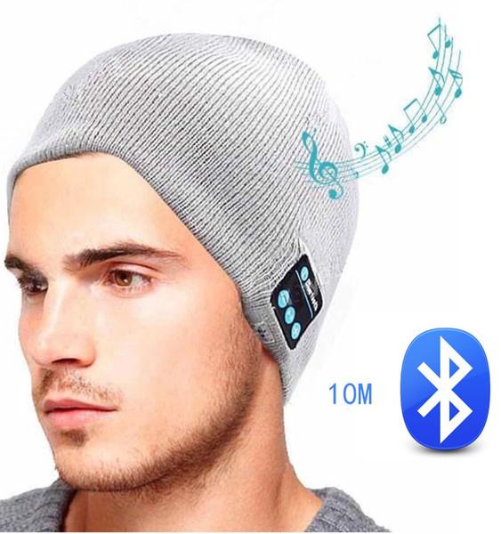 Outdoor Camping Soft Warm Beanie Gorro Hat Wireless Bluetooth Smart Cap Headset Headphone Speaker Mic Bluetooth Hat Men Women Sports Hat