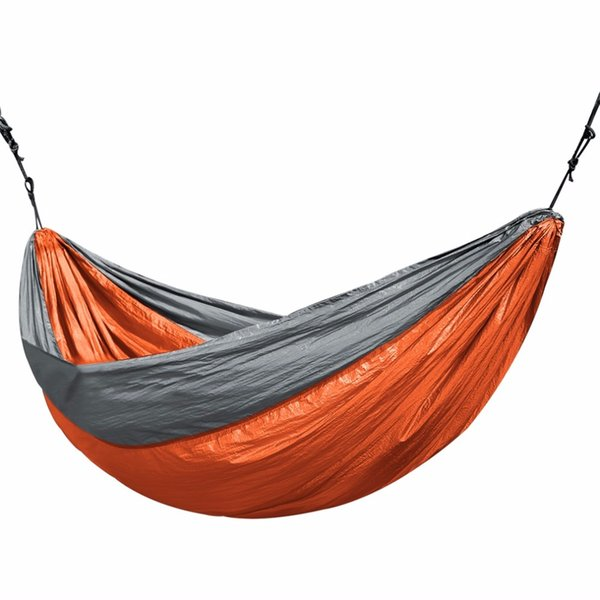 OUTAD 3.2*2M 400lbs Larger Double Nylon Camping Hammock Lightweight Summer Beach Travel Picnic Camp Hammocks Hang Bed Bags Pouch