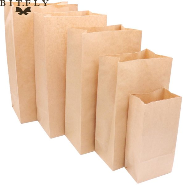 bag party 50pcs Kraft Paper Food tea Small Gift toaster Sandwich Bread Bags Party Wedding supplies Wrapping Gift takeout Bags