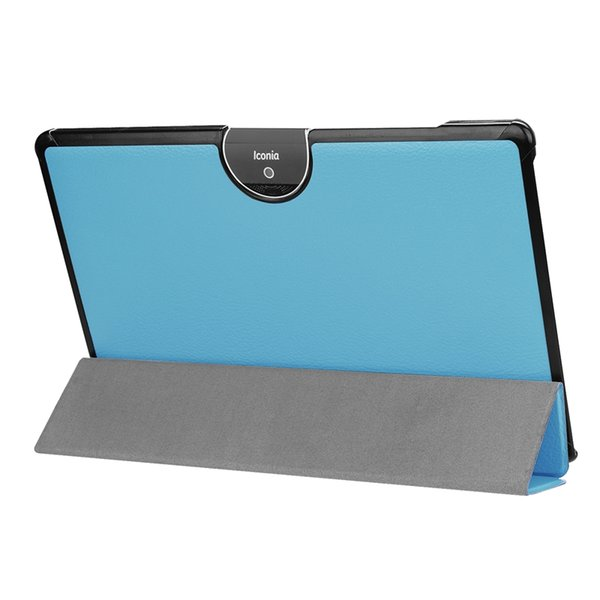 100pcs Flip Book Cover PU Leather Case for Acer Iconia Tab 10 A3-A50 One 10 A3-A50 Ultra Slim Protective Stand Case + Stylus Pen