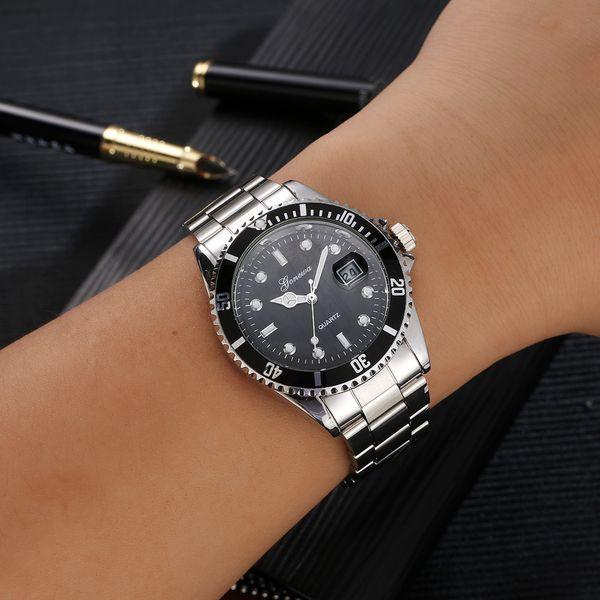 2018 Best Sell Watch Men GONEWA Fashion  Stainless Steel Date Sport Quartz Analog WristWatch relogio masculino erkek kol