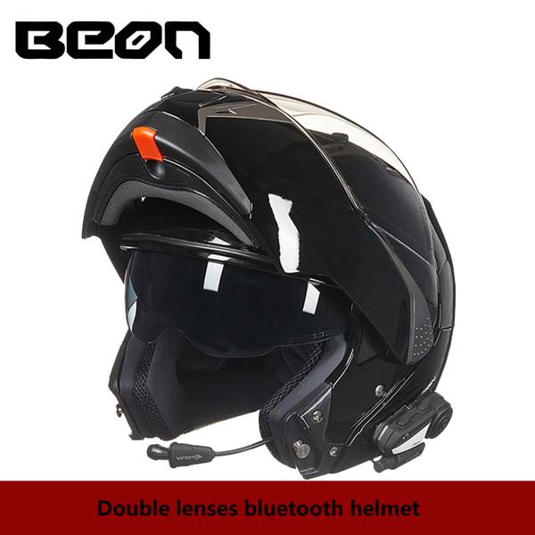 BEON Двойные линзы откидные мотоциклетные шлемы BLUETOOTH полнолицевые шлемы для мотоциклистов Racing Riding casque moto шлемы