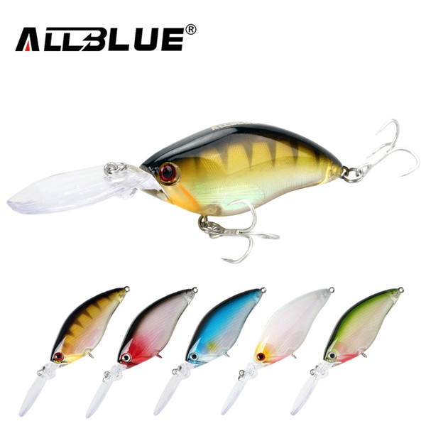 ALLBLUE Floating Deep Diving Crankbait Fishing Lures 17.8g/70mm Lifelike Wobblers With 6# Hooks peche isca artificial Y1890402