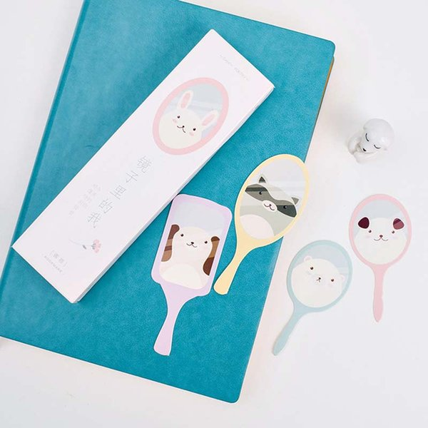 30Pcs/Pack Cartoon Bookmark Cards Animal In The Mirror Bookcard Stationery Student School Office Supplies Gift Bookmarks