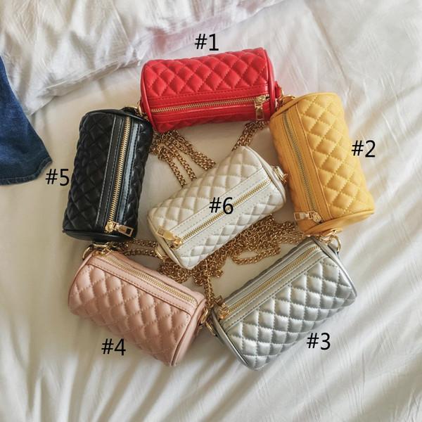 Childrens wild Messenger Wallet purse Leather cylinder wallet Messenger bag personality parent-child shoulder bag mini accessories bag