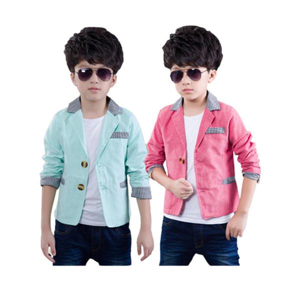 Erkek ceketler nedensel katı şeker renk palto 3-12 yıl çocuklar için çocuk giyim giyim