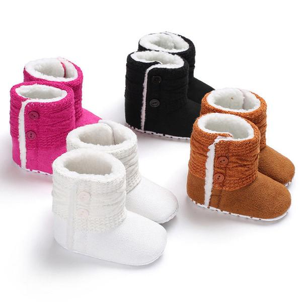 f5282f5b Bebés recién nacidos Niñas Zapatos de nieve Botas Invierno Cálido Niño  pequeño Suela blanda Botas de