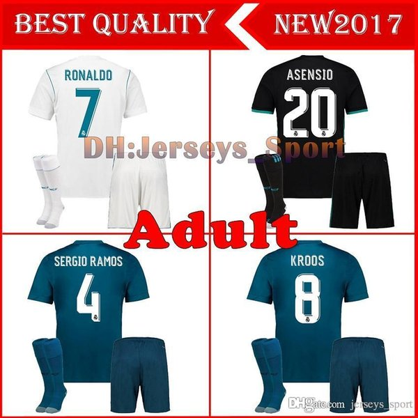 : Real Madrid Away Benzema Jersey 2017 2018