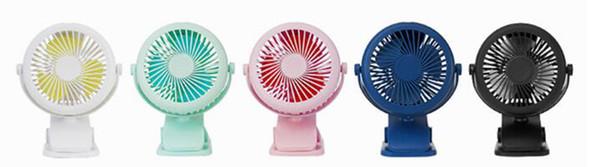 2018 New 360 degree fan USB Desktop Office Students Small Household Cooling Fan USB Mini Portable Clip Fan 3 gear 5color JD-199USB