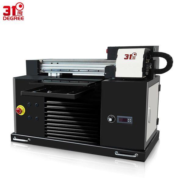 31Degree 30*50CM UV Color Inkjet Printer Flatbed T Shirt Printing Machine 3d Emboss Phone Case Metal/Wooden/PVC Printers