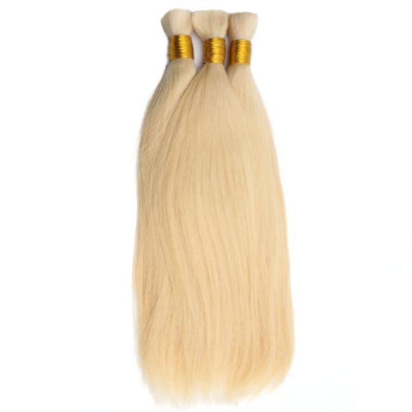 "HC Hair Bulk Human Hair For Braiding 1 Bundle Free Shipping 14""~24"" Blonde 613 Color Brazilian Straight Virgin Hair Extensions"