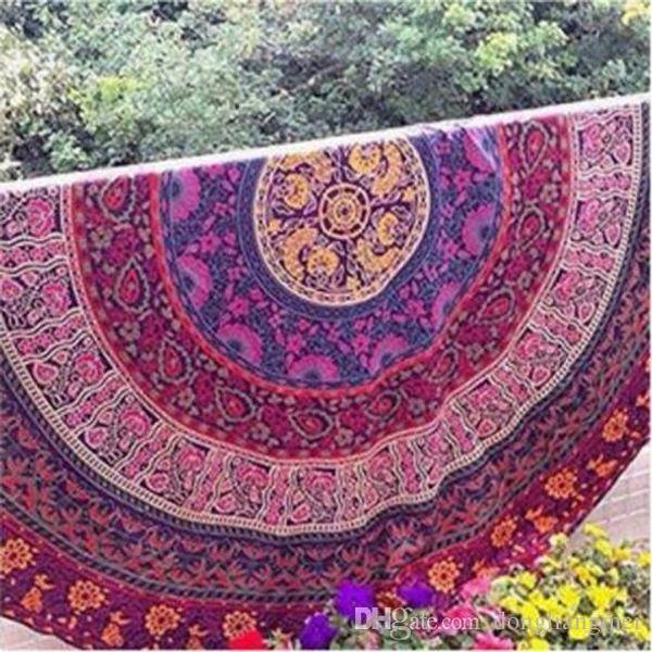DLM2 150 cm Indian Mandala Couvre-lit Tapisserie Châle Tenture murale Bohème Ethnique Throw Beauté Mur Décor Beach Serviette Couvre Lit Tapis De Yoga Wn123