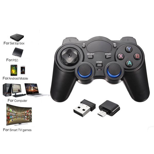 ZXZ 2.4G PS3 Android Telefon Için Bluetooth Kablosuz Gamepad PC TV Kutusu Joystick Joypad Game Controller Uzaktan Için Xiaomi OTG Telefon