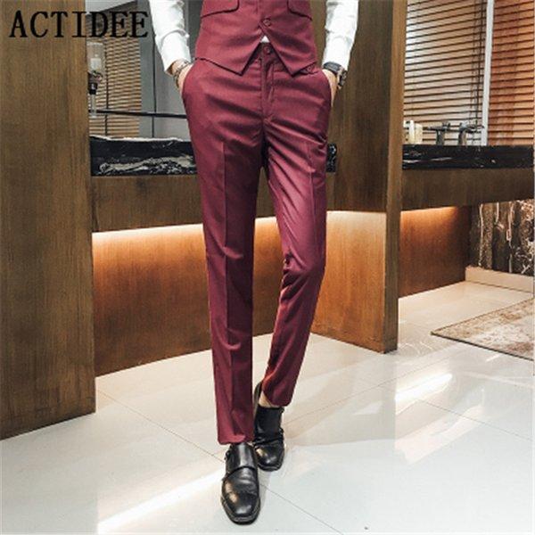 2017 nouveaux hommes costume pantalons homme casual style occidental pantalons d'affaires hommes formelle robe pantalons, plus la taille S à 3XL, 4XL, 5XL