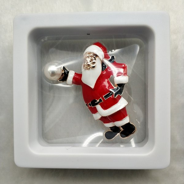 New style simple Santa painting oil brooch cartoon Christmas series chest ornaments