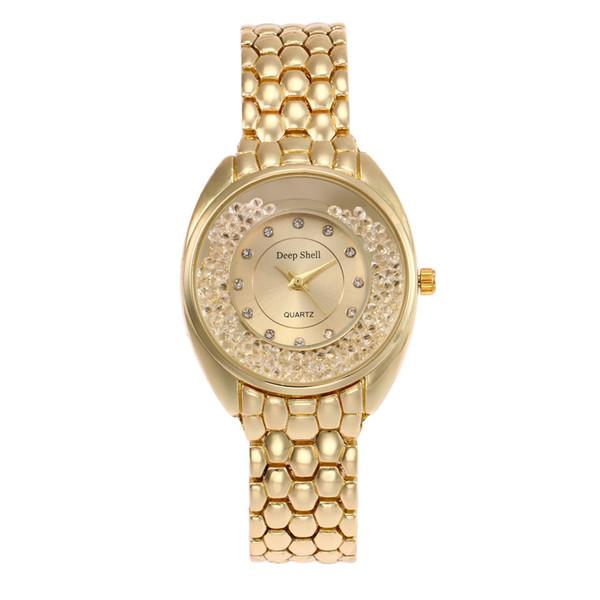 New Pattern Bracelet Surface Luxurious Fashion Ma'Am Rhine The Flow Of Sand  Stone Quartz Wrist Watch Wechat Business A Piece Of Generation Best