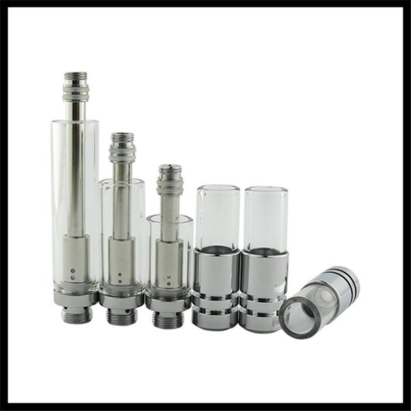 glass cartridge vape 510 dual coil vaporizer open e cigarette mini thick oil atomizer extract oil vaping tank co2 green oil atomizer bud pen