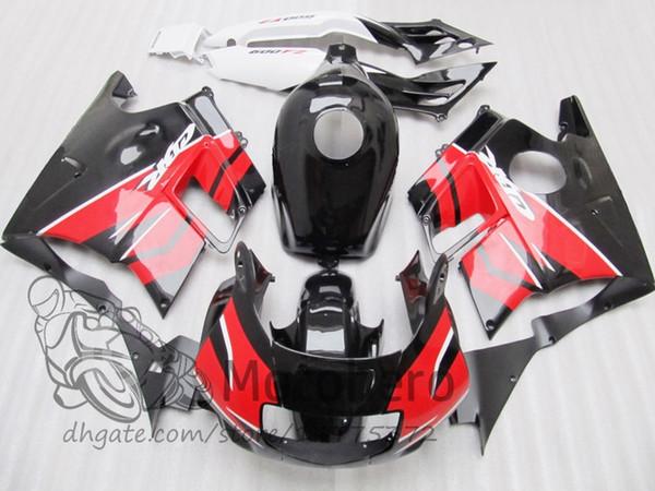 Motocycle fairings for HONDA CBR600 F2 91 92 93 94 CBR600F2 1991 1992 1993 1994 CBR 600 Red Black custom fairings set H21455