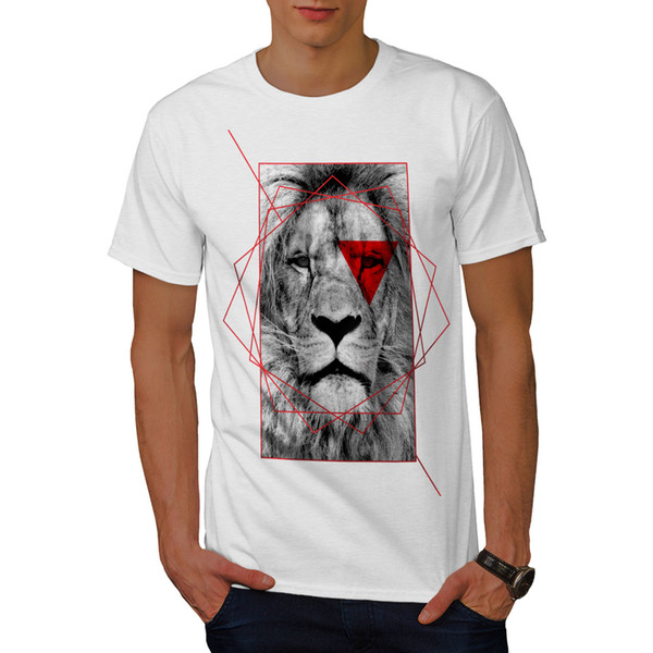 d378802af Wellcoda Lion Cool Design Mens T-shirt, Royal Graphic Design Printed Tee  2018 New