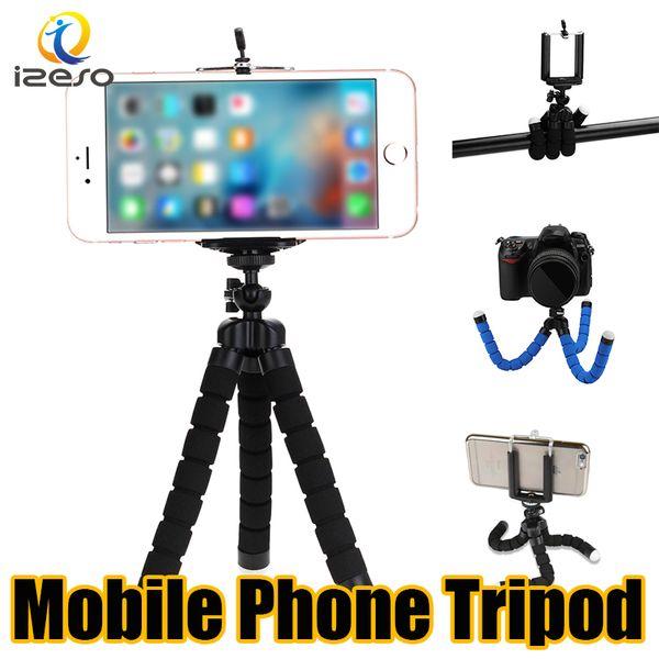 Evrensel Tripod Tutucu Cep Telefonu Kamera Dağı için Standı Braketi Esnek Ahtapot Tripodlar Mini Özçekim Monopod iPhone Samsung Huawei iPad için