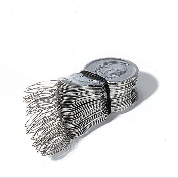 100 Pcs Aluminium Stitch Insertion Accessories Needle Threader For Hand Sewing Machines Needle Threaders Stitch insertion