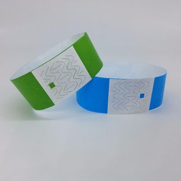 Bandes de poignet disponibles de papier de couleur différente 1000pcs disponible, bracelets d'événement, bande de papier de tyvek de bande de Tyvek de partie