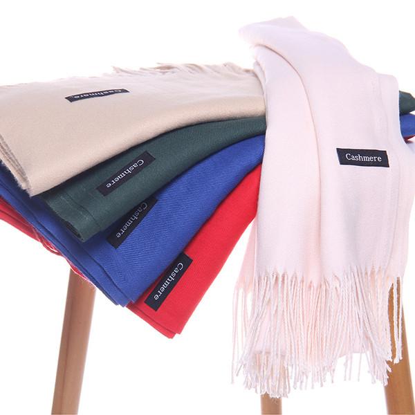 solid color soft women scarf cashmere-like scarves lady summer thin shawls wraps winter pashmina femal hijab headband