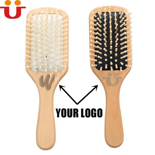 MOQ 100pcs Your LOGO Customized Wood Hair brush Hygienical Brush Custom Private Label Comfortable Healthcare Comb Beuty Salon Barber Shop