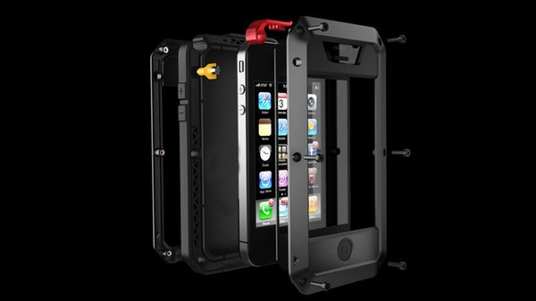 Luxury Doom Armor Life Water Resistant Shock Proof Silicon Aluminum Metal Case for IPhone 7 8 X 6S 6 S Plus iPhone 5 5S 5SE 5C Coque