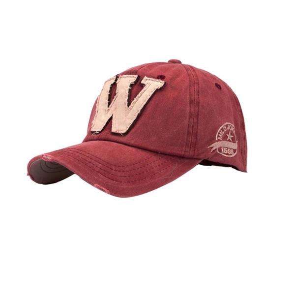 Pamuk Nakış Mektup W Beyzbol Şapkası Snapback Kapaklar Hip Hop Kemik Gorras Erkekler Kadınlar Için casquette Şapka Spor Açık Havada Baba Kap C1