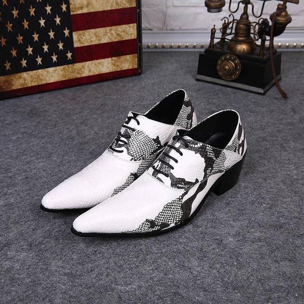 Acheter Nouvelle Arrivée Homme Cuir Chaussures Habillées Style Britannique De Loisirs Styliste Chaussures Blanc Noir Homme Chaussures De Mariage