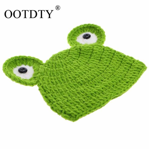 OOTDTY 1 pc Fotografie studio supplie Frosch Hüte für Niedlichen Cartoon Baby Fotostudio kits