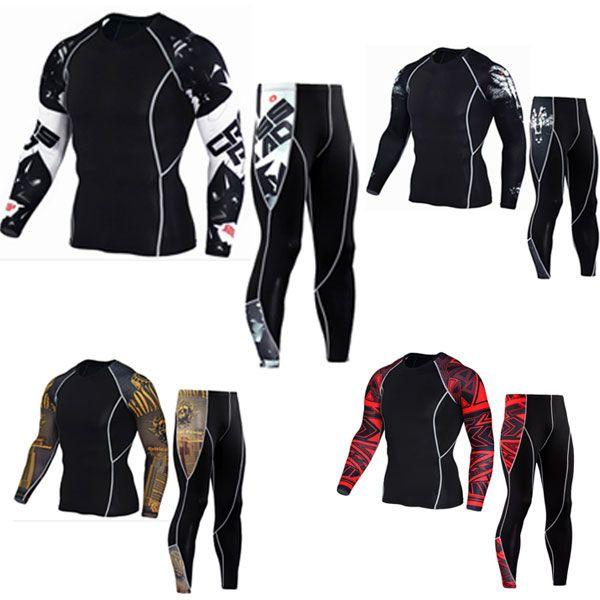 men's Long sleeves t-shirts 2017 union suit men's t-shirts MMA rashgard kit Clothing Tops & Tees