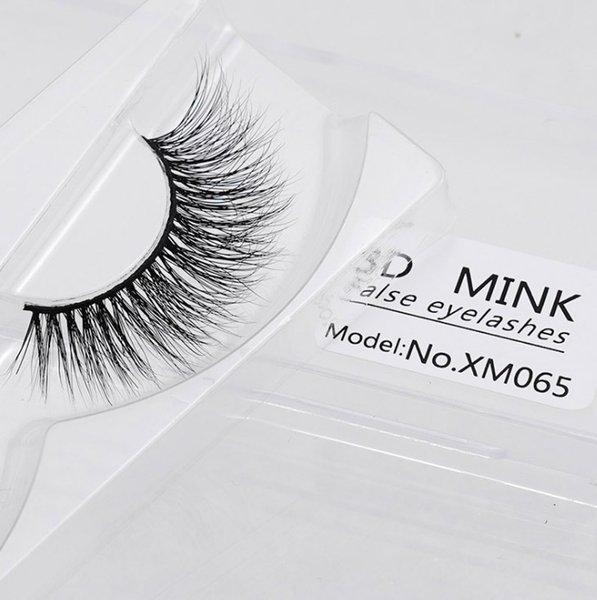 2018 Professional Eye Makeup 100% Real Mink Hair False Eyelashes natural 3d mink lashes Full strip fake eyelashes extension Natural Crisscro