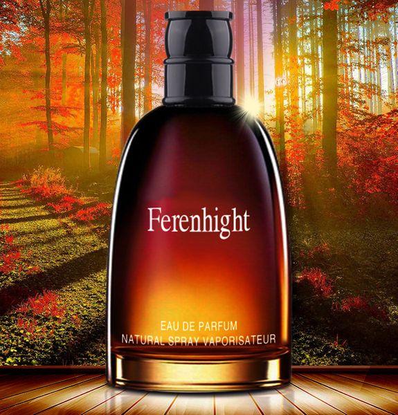 Новый Ferenhight черный кобель Духи 75ML Organic Elegance Духи Долговечность Cologne Стеклянная бутылка Свежий древесный Citrus для мужчин