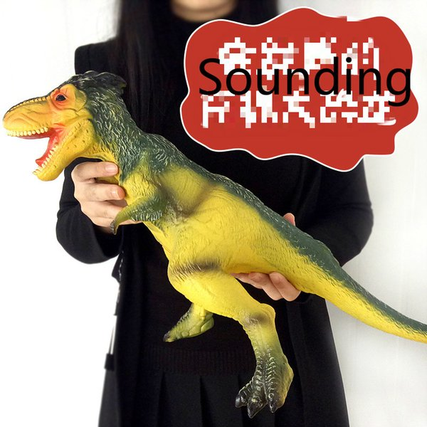 "26""*14"" Tyrannosaurus Rex Jurassic Toys,Soft Hand-Painted Dinosaur Toy Figurine Model with Teeth Collectors can sound Ages 3 And Up"