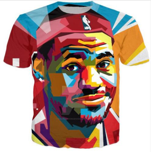 Newest 3D Lebron James Print Casual T-Shirt Summer Short Sleeve Hip Hop Style Sweats Tops Comfortable Tees Clothing