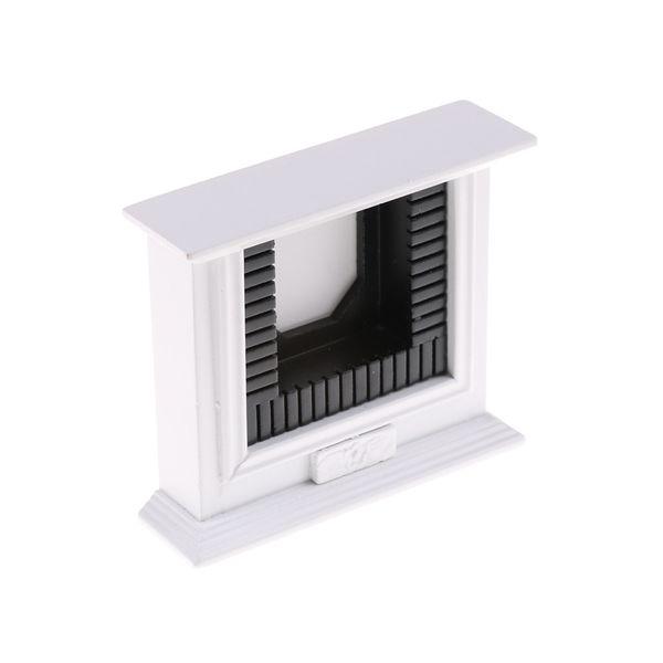 1/12 Scale Dollhouse Wooden Fireplace Accessorie Decoración de muebles hechos a mano en miniatura Juguetes