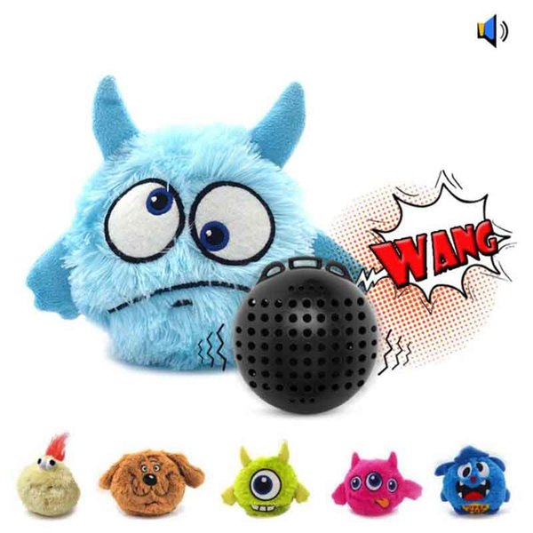 Pet Supplies Vocalization Vibration Electric Pet Toy Ball Dog Toy Resistant To Catch Bounce Plush Pet Toy Ball MOQ:10pcs Free Shipping